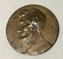 Abraham Lincoln 1809-1909 Bronze Medal Grand Army Of The Republic