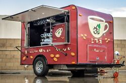 2014 - 6' x 10' Coffee Concession Trailer  Used Mobile Cafe for Sale in Califor