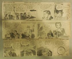 312 Secret Agent X-9 Dailies By Mel Graff From 1943 Size 3 X 10 Inches Rare