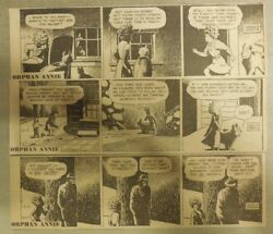 250 Little Orphan Annie Dailies By Gray From 13-11/1951 Size 3 X 8 Inches
