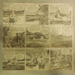 312 Secret Agent X-9 Dailies By Mel Graff From 1946 Size 3 X 8 Inches Rare