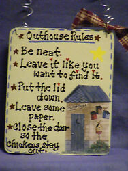 Outhouse Sign For Your Bathroom Outhouse Rules...5x6 Handmade