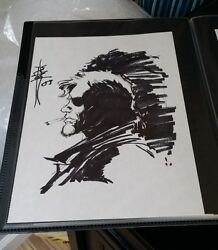 Snake Sketch-hand Drawn And Signed/tone Rodriguez W/coa8x11crossgen