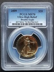 2009 $20 Ultra High Relief Double GOLD EAGLE     - Popular Issue -    PCGS MS70