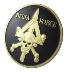 U.s. United States | Skull | Delta Force | Military Gold Plated Challenge Coin