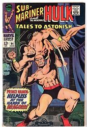 Tales To Astonish 94 - The Incredible Hulk And The Sub-mariner, Fine Condition