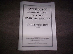 New Waterloo Gasoline Engine Co. Built Hit And Miss Gas Engine Best Parts List 16