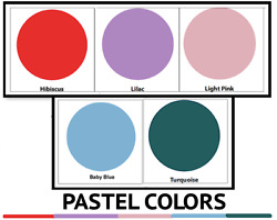 Easy Weed Heat Transfer Vinyl Pastel Colors For Silhouette Cameo, Cricut, Decals