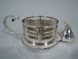 Victorian Lighter - Antique Cigar Cigarette Cup - English Sterling Silver 1883