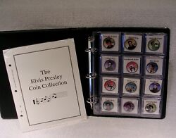 Elvis Presley Colorized Half And Quater Coin Collection - Music Commemorative