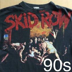 Skid Row T Shirt Men Large L 1991 90's Vintage Live Rock Band Collectible Used