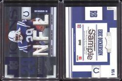 2007 Absolute Memorabilia Nfl Icons Nfl-6 Eric Dickerson Pre-production Sample