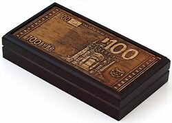 Birch Bark Wooden Banknote Storage Box Currency Holder Case Casket Handmade 7