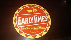 Rare Early Times Whiskey Tin/steel Sign. 1950and039s-1960and039s