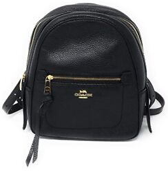 COACH ANDI BACKPACK BLACK PEBBLED LEATHER 2 IN1 SMALL CROSSBODY BAG PURSE NWT **