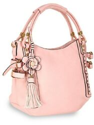 Unique Buckle Accent Shoulder Bag Designer Pink $39.99