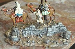Austrian Cold Painted Bronze Caravan By Oasis By Franz Bergman Foundry Camel