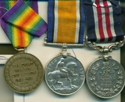 A Wwi M.m. Group Of Three Awarded To Acting Company Sergeant-major J. Leitch