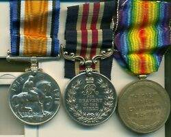 A Wwi M.m. Group Of Three Awarded To Sergeant A. F. Radford 50th Calgary