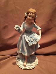 Andrea By Sadek French Provencial Girl With Grapes Figurine 7190