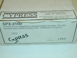 New Cypress Spx-2100 Suprex For Magstripe Formats Rs-485 Twisted Pair