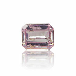Pink Diamond Natural 0 .11 Ct Fancy Intense Color Gia Certified Real Emerald Cut