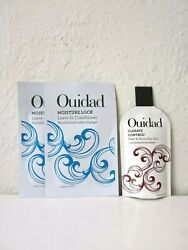 Lot of 3 Ouidad Samples Moisture Lock Leave-In Conditioner & Climate Control Gel