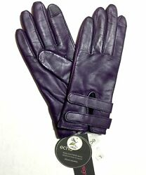 ECHO DESIGN Womens GLOVES Purple WAloe Iphone Compatible Adjustable Large NWT