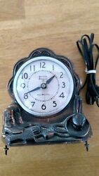 Electric Gibraltar Electric Horse Clock Works. Movement. Parts Or Repair