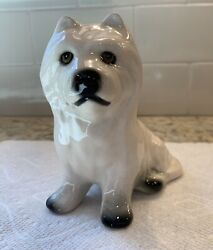 Ceramic West Highland White Terrier Westie Dog Figurine - MINT!