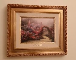 Thomas Kinkade Glory Of The Morning Sold-out Limited Edition S/n 20x17