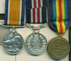 A Wwi M.m. Group Of Three Awarded To Private L. Larson, 50th Calgary Battalion