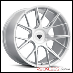 Blaque Diamond 20 Bd-f18 Silver Concave Wheel Rims Fits Ford Mustang Gt Gt500