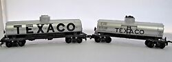 Ho Scale Lot Of Two 2 Texaco Single Dome Tankers Tank Cars Tcx