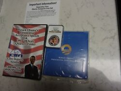 2009 Republic Of Liberia 5 Barack Obama Ngc Gem Proof Silver Coin, Dvd And More