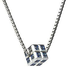 Chopard Ice Cube White Gold Pendant With Blue Sapphires Brand New 9670 Retail