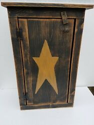 Primitive Country Shabby Pine Wooden Jelly Cabinet Variety Of Colors 30 Farm
