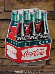 Coca Cola Coke Ice Cold 6 Pack Advertising Vintage Retro Metal Bottle Signs New