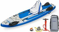 New Sea Eagle Hb96 Hybrid 9'6 Inflatable Sup Deluxe Package