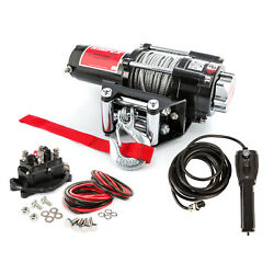 Kimpex Electric Winch 4500 Lb Steel Cable Wire Rope 39.4' 12v With Accessories