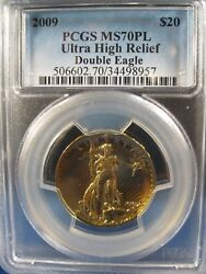 2009 $20 GOLD ULTRA HIGH RELIEF  PCGS MS 70 PROOF LIKE   FREE S/H