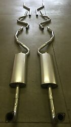 1957 Ford Convertible Dual Exhaust System, 304 Stainless
