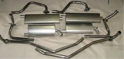 1967-1970 Buick Riviera Dual Exhaust System With Resonators 304 Stainless