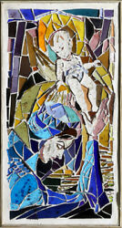 Charles Blaze Vukovich, Mary and Baby Jesus, Stained Glass Mosaic in Plaster