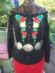 Nwot155sold Outembroidered Western Button Down Shirtl/mroja
