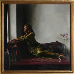Harry McCormick Woman in Yellow Dress Oil Painting