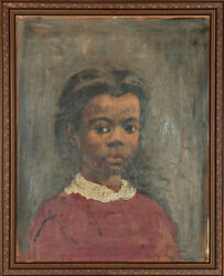 Ernest Crichlow Portrait of a Girl Oil Painting