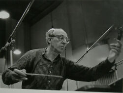 Jules Tannenbaum Aaron Copland from Carnegie Hall Recording Session Something W