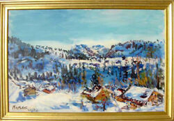 Dimitrie Berea The Charm of Switzerland Oil Painting