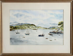 Betty Guy Port Ree Skye Watercolor Painting